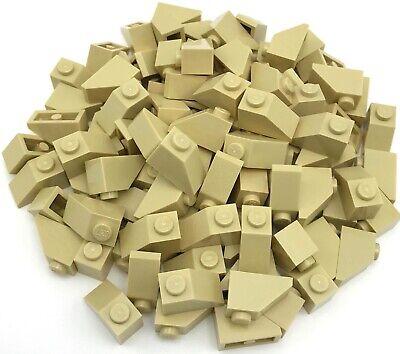 Lego Lot of 100 New White Slopes Inverted 45 2 x 1 Sloped Parts