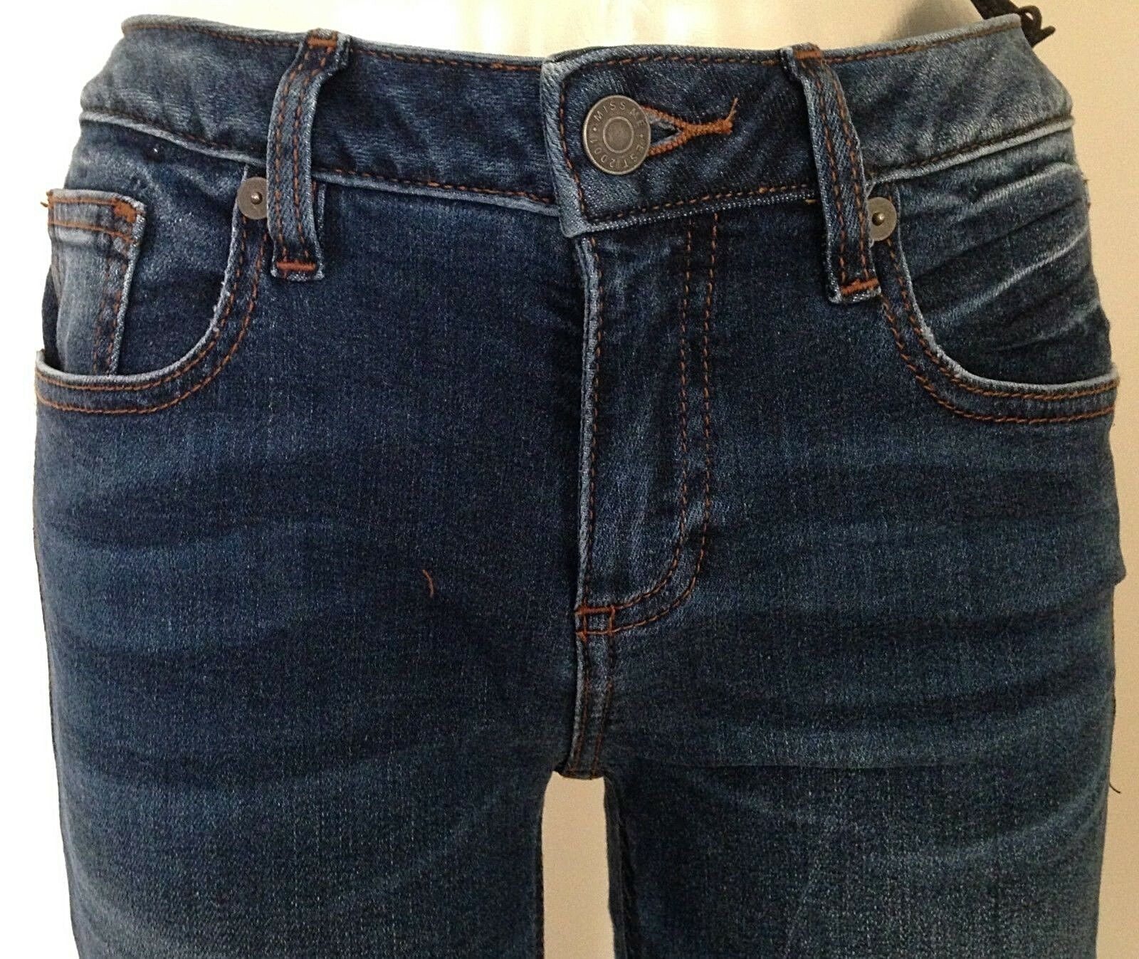 MISS ME JEANS NEW WITH TAG 1001S38 SLIM SKINNY INSEAM 29