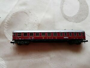 A Model Railway German Restaurant Coach In N Gauge By Trix