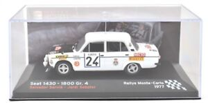 Voiture-Miniature-1-43-Rallye-Monte-Carlo-039-77-SEAT-1430-taille-4-Servia-amp-Sabater-ALTAYA