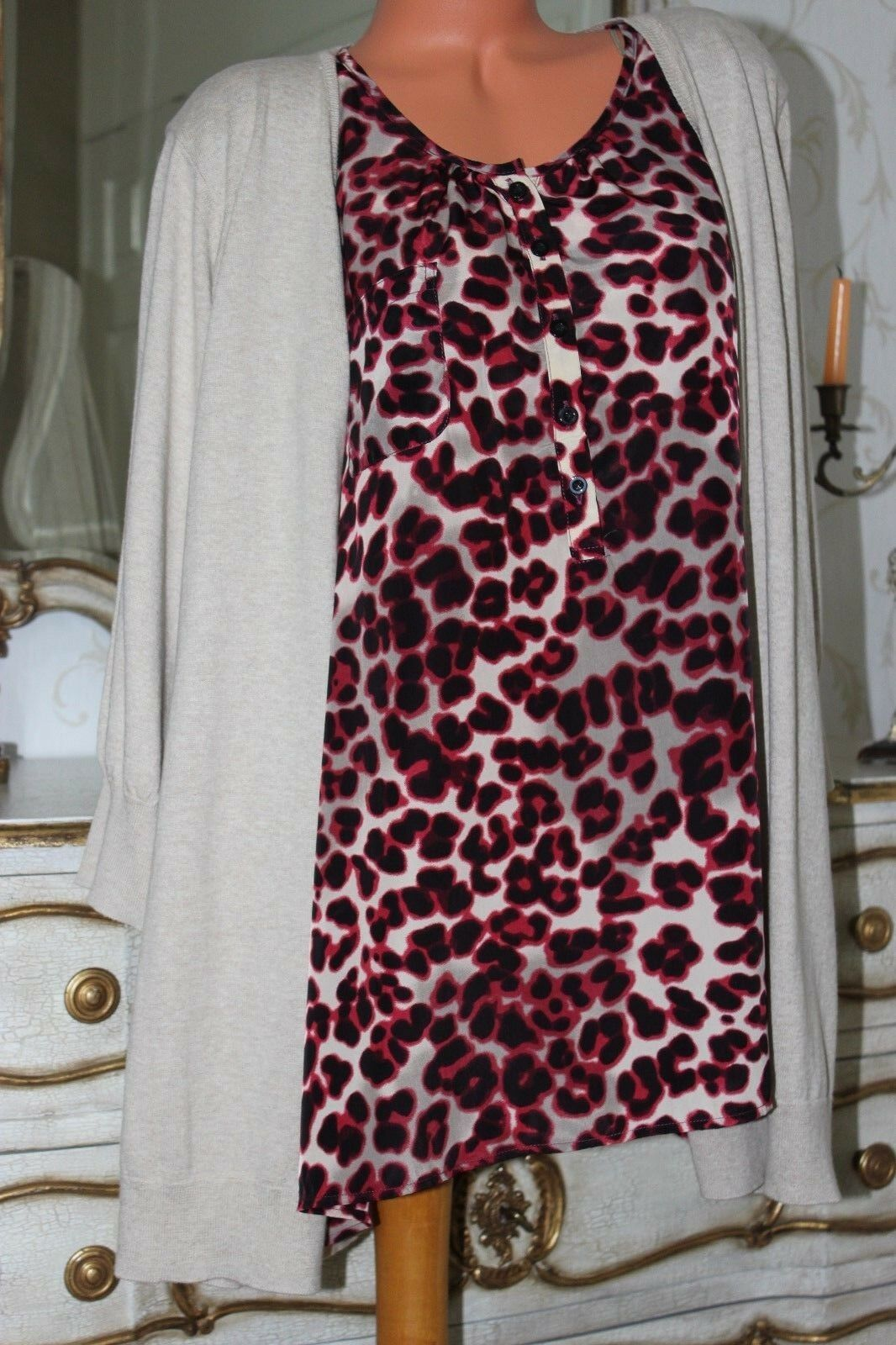 (Ref 27)  MARISOTA  Ladies 2 Piece Effect Blouse & Cardigan Size 32 34 UK NEW