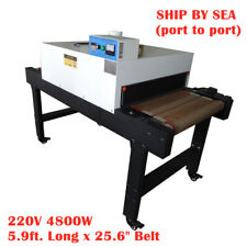 220v 4800w Conveyor Tunnel Dryer 256 X 59 Belt T Shirt Screen Printing Sea