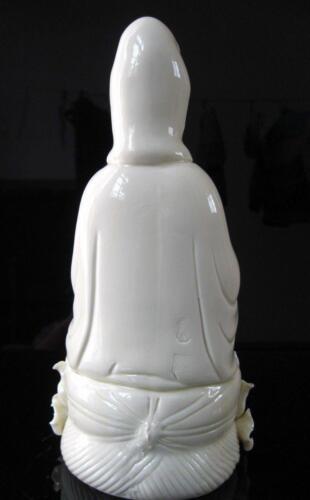 Exquisite Chinese Dehua Porcelain Kwan-yin Guanyin Goddess Statue A