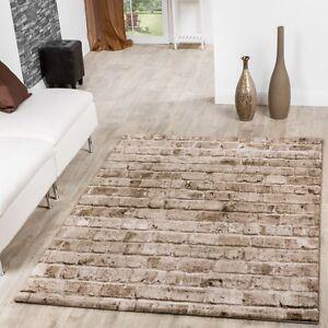 Teppich Torino Stone Optik Grau Wohnzimmer Teppich Braun Beige