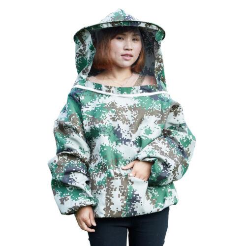 Beekeeping Jacket Veil Bee Keeping Suit Hat Smock Protective Equipment Camo3