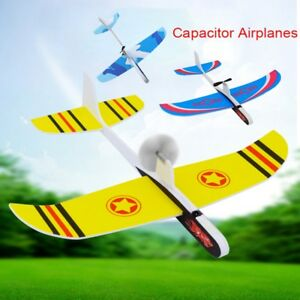 Wing-Foam-EVA-Toy-Hand-Launch-Throwing-Capacitor-Plane-Model-Electric-Airplanes