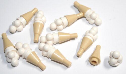 10x LEGO® Eiswaffel//-tüte 11610 mit Eiskugeln//Bällchen 6254 NEU Beige /& Weiss
