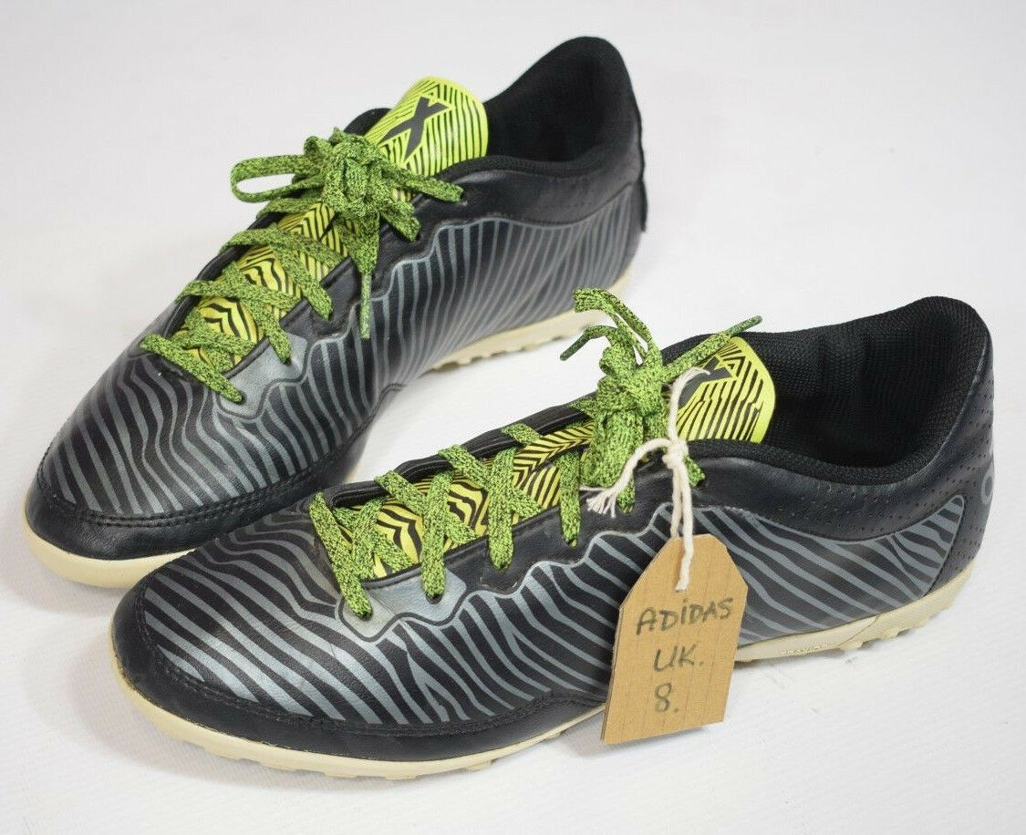 Mens 2015 Adidas X Green Black Astroturf Trainers Comfortable The most popular shoes for men and women