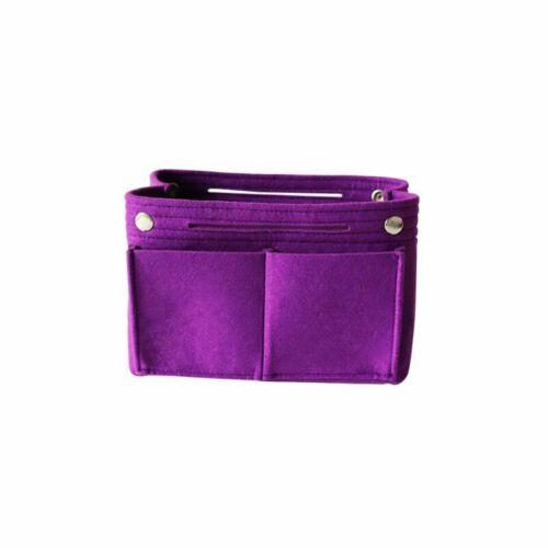 Multifunctional Felt Bag Makeup Organizer Purse Insert Bag Fabric Storage Pouch