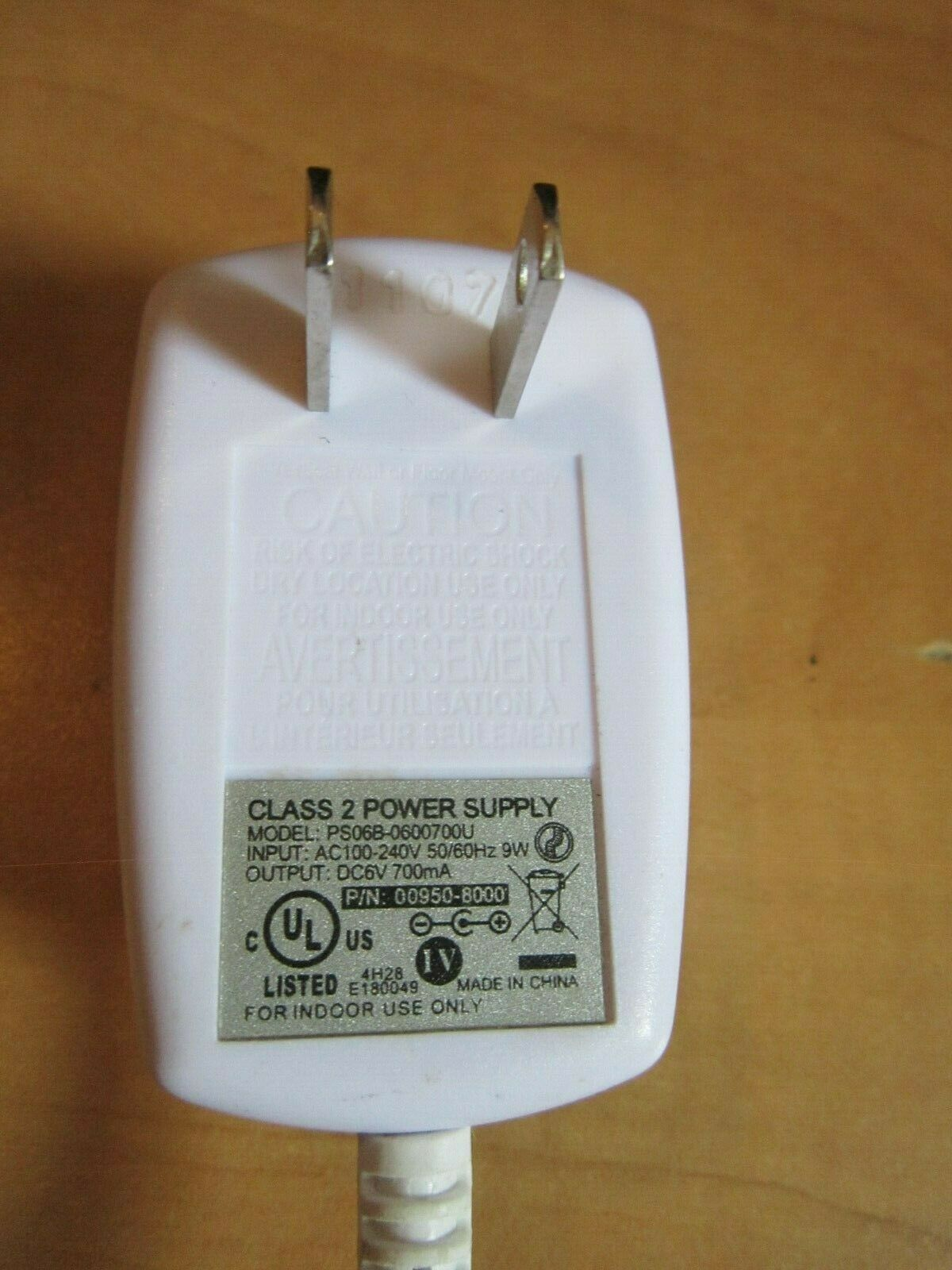 A/C Adapter For Fisher Price Model: PS06B-06007004 Original Power Supply Cord