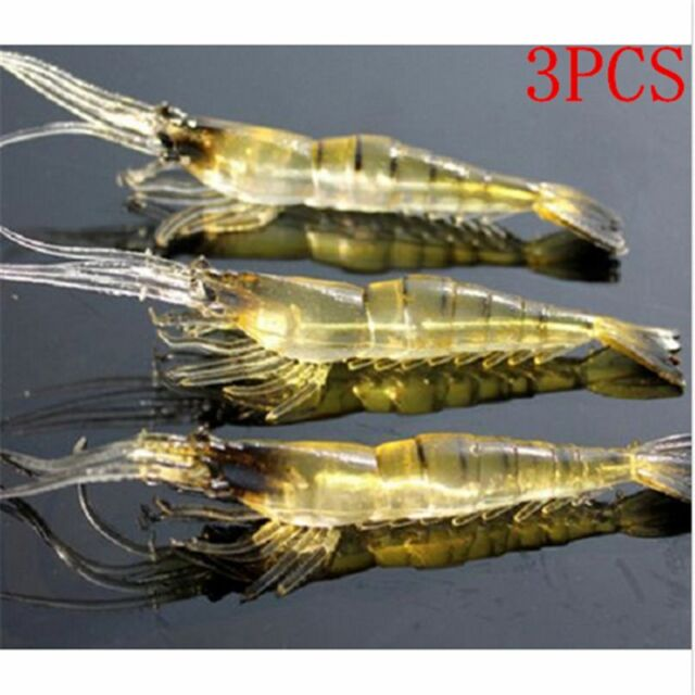 Lot 3Pcs Kinds of Fishing Lures Crankbaits Hooks Minnow Shrimp Baits Tackle