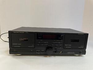 Harman Kardon Dual Cassette Deck Tape Player DC520 w/Auto Reverse-Dolby HX Pro