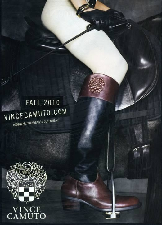 Classic riding boots black brown Vince CAMUTO DUKE 7.5 SOLD OUT STYLE