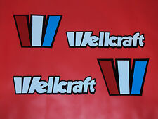 Wellcraft boat emblem stickers Free Ship  Marine Vinyl  NOT Ink-jet