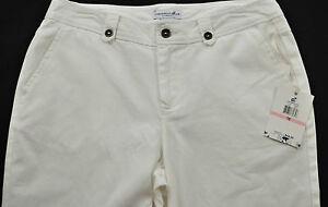 women-039-s-Caribbean-Joe-shorts-size-8-white-cotton-cotton-flat-front-pockets