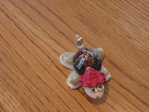 Seashell Sea shell turtle glasses hat red NEW party handmade super CUTE shells