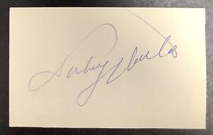 Johnny Unitas Signed Index Card Football HOF Autograph BAL Colts Super Bowl JSA