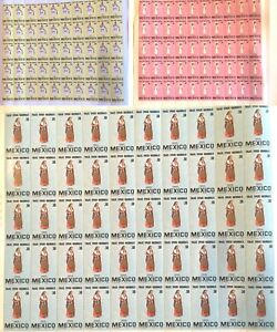 MEXICO-1981-NATIONAL-COSTUMES-SET-OF-3-SHEETS-MINT-NH