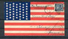 USA Patriotic Cover 5 Cents EF Hoboken-Schwarzenbach - b2917