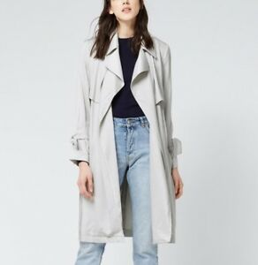 Soft Light 16 Coat 6 Warehouse Rain Trench Mac 8 Grigio Touch 10 Duster Drape Over qAf5X