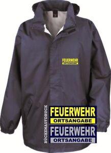 Rückenaufdruck Brust Und Mit Feuerwehr Regenjacke Jacke Details Windbreaker Zu BoCWrdeQx