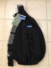 Back to School SALE New Kavu Women Sling Rope Bag Day Pack Travel Backpack  Black 8c8170728e9bc