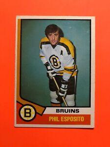 Phil-Esposito-1974-75-O-Pee-Chee-NHL-Hockey-Card-200-Boston-Bruins