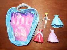 Disney Princess Magiclip Cinderella fashion bag playset figure toy three dresses