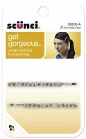 Scunci Effortless Beauty Metal Rhinestone Bobby Pins, 5.5cm, 2-count