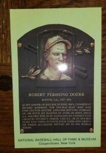 Bobby Doerr Baseball Hall of Fame Induction Plaque Postcard NEW UNSIGNED