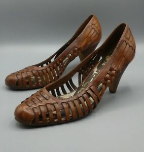 e9e95c48b2e91 Sam Edelman - Ferran - BROWN woven leather huarache boho heels- US ...