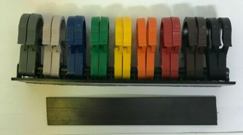"""Standard ET63 18 Piece Wire Loom Routing Marking /& 3//4/"""" Clips Color Coded USA"""