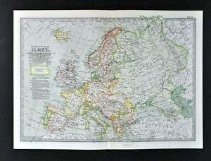 1902-Century-Map-Europe-France-Spain-Germany-Britain-Austria-Italy-Greece