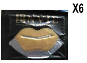 ENVIE-Lot-de-6-Gold-Collagen-Lip-Mask-masque-pour-levres-hydratant-EBUX