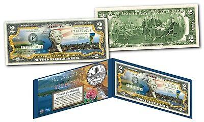 Genuine Legal Tender Lucky Money VIETNAM Colorized $2 Bill U.S HA LONG BAY