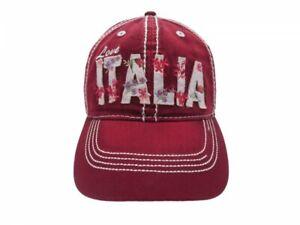 Chapeau-ITALIA-avec-des-Fleurs-Fleuri-Reglable-58-CM-Rose-Brode-3D