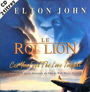Elton-John-CD-Single-Can-You-Feel-The-Love-Tonight-France-EX-EX