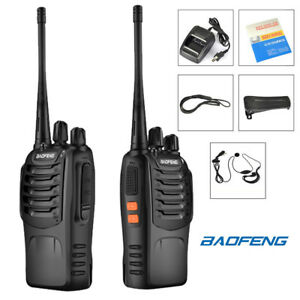 2x-Baofeng-BF-888S-UHF-400-470MHz-Two-way-Ham-Radio-5W-CTCSS-16CH-Walkie-Talkie