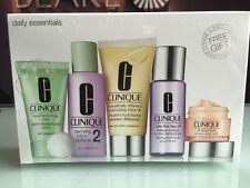 Clinique Daily Essentials 5 piece Set, Dramatically Moisturizer, Facial Soap etc