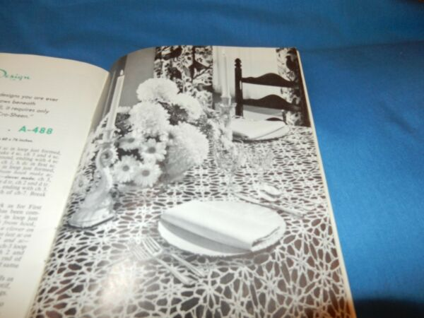 Vintage Crochet Doily Pattern Book Tablecloth Hot Pads Snow On The