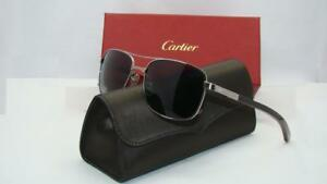 4dad04eb5d9 SANTOS De CARTIER T8200865 Gray-Red Bubinga wood Ruthenium Polarized ...