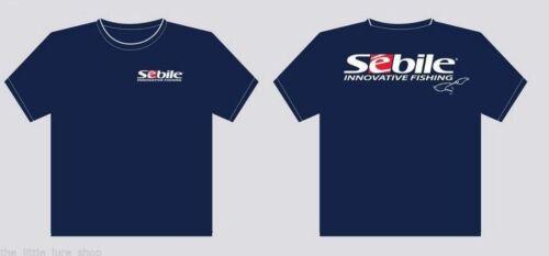 Blue /& White Sebile Lures Short Sleeve Fishng T Shirt S-2XL UV 40 Factor