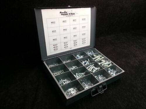 Flat /& Lock Washer Assortment 630 Piece Grade 8.8 With Tray Nut Metric Bolt