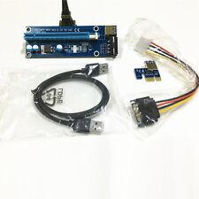 1x bis 16x Extender Riser USB 3.0 PCI Express Kartenadapter SATA 6Pin Netzkabel