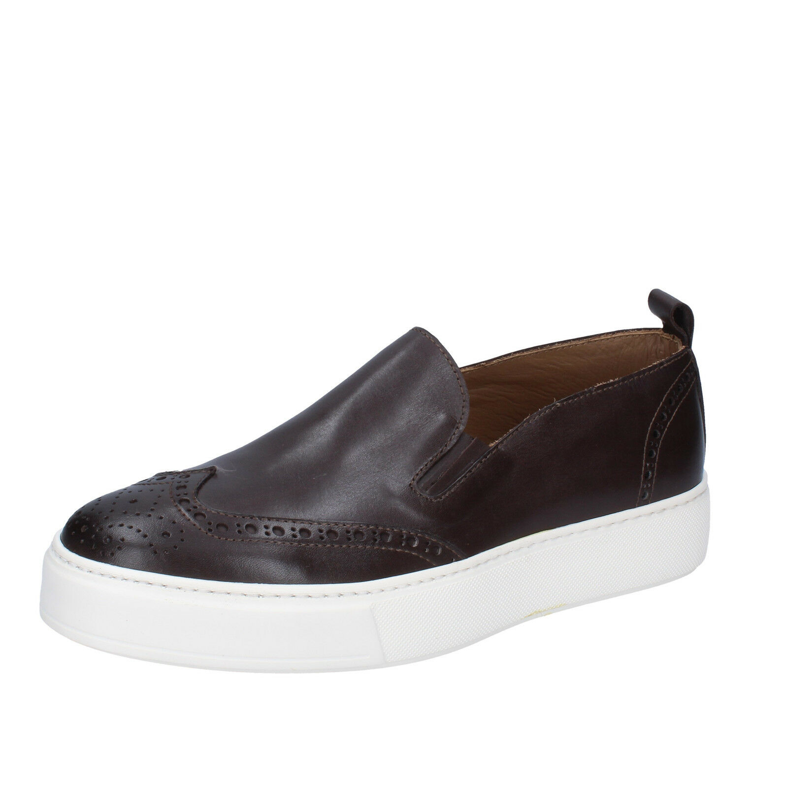 men's shoes DI MELLA 8 () loafers brown leather AB998-C
