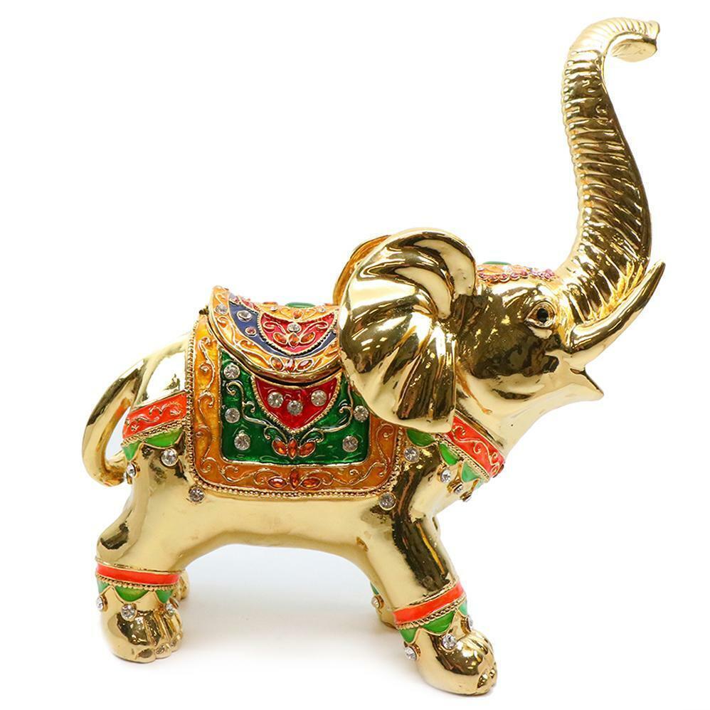 BIJOU JEWELRY BOX Swarovski, Figurines Décoratives Grand or Elephant 12 in (environ 30.48 cm)