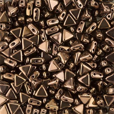 K103//10 Kheops® Par Puca® Czech Glass Triangle Beads Tweedy Silver 6mm 9g