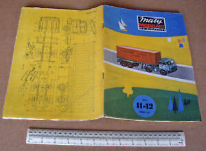 1976 Vintage Maly Modelarz Poland Artic Container Truck & SPAD Fighter WW1