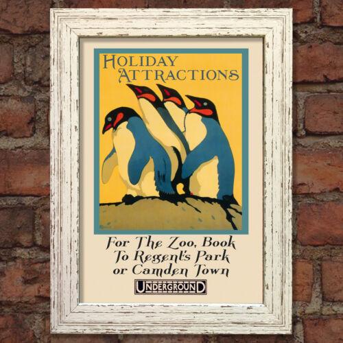 LONDON ZOO #5 VINTAGE RETRO TRAVEL Poster Nostalgic Home Print Wall Decor #52