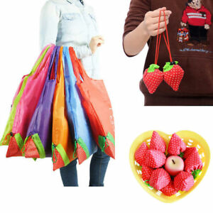 1-PC-Eco-Storage-Handbag-Strawberry-Foldable-Shopping-Bag-Reusable-Grocery-Tote